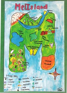 The symbolic map was a project in which we had to create a country or place in which we would be able to represent ourselves and our likes. First we had to create a rough draft in which we had to...