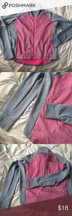 Nike Dri Fit Golf/Workout Jacket Zip Up Gray/Pink Nike Dri Fit Golf/Workout Jacket Zip Up Gray/Pink size XS ----  All items are from a non-smoking home. Item is as described, feel free to ask questions.  I am a fast shipper with excellent ratings. I do bundle discounts and am open to trades.  Like this item? Check out the rest of my closet!  Thanks for looking! Nike Jackets & Coats