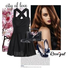 """rosegal  28"" by aida-1999 ❤ liked on Polyvore featuring WALL"