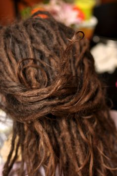 little curl at the end #dreadlocks #updo #closeup