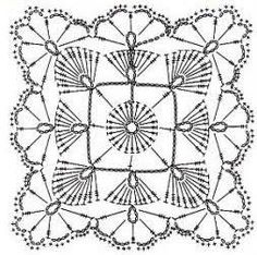 Image result for crochet square diagram