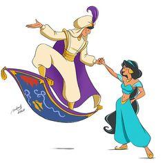 Disney Love, Disney Magic, Disney Pixar, Disney Characters, Disney Stuff, Walt Disney, Aladdin Art, Princesa Jasmine, Disney Enchanted