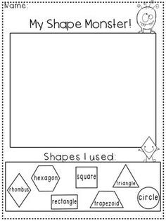 Enjoy this freebie and you can use it with pattern blocks in your classroom!My Shape:MonsterHouseRobotAnimalPlease leave feedback and follow for more freebies! All of my items are free when first listed.