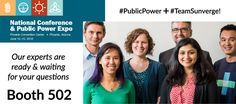 Attending the APPA conference today? Stop by our booth and meet our team of experts! #publicpower #teamsunverge