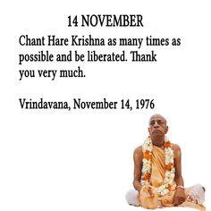 Srila Prabhupada's Quotes In November Radha Krishna Quotes, Radha Krishna Pictures, Krishna Radha, Krishna Love, Krishna Images, Lord Krishna, November Quotes, 14 November, Sanskrit Quotes