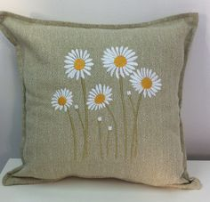 Embroidered Cushions, Embroidered Silk, Embroidered Flowers, Hand Embroidery Patterns, Embroidery Stitches, Embroidery Designs, Fabric Painting, Fabric Art, Toddler Floor Bed