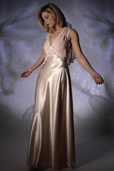22d8b2862b3 Silk   Chiffon Nightdress 3273 Satin Sleepwear