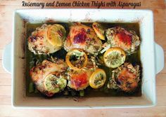 Rosemary and Lemon Chicken Thighs with Asparagus   Bobbi's Kozy Kitchen for #ChooseDreams #SundaySupper