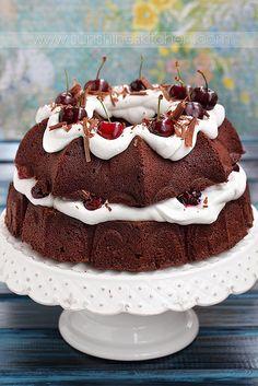 Chocolate and cherry cake by Irina Kupenska