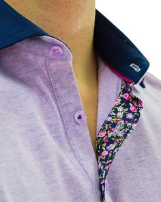 Stone Rose Purple Polo Designer Shirt - lavender
