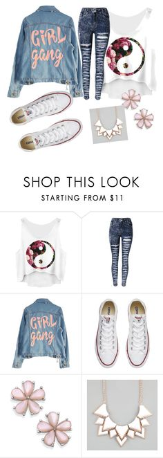 """simply cute"" by tiffanymarie13 ❤ liked on Polyvore featuring High Heels Suicide, Converse and Full Tilt"