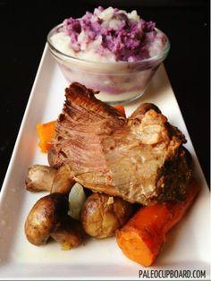 Paleo Slow Cooker Pot Roast @La Farme / Anne Dann Cupboard