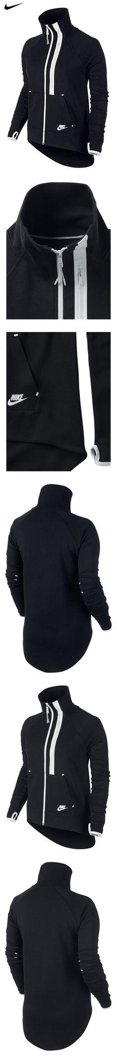 low priced 6132a b1c45 Amazon.com  Nike Tech Fleece Moto Cape Black White 642688-010 Women s  Medium  Sports   Outdoors