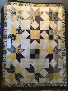 Four Blocks In A Block – Quilt Pattern Instructions – Dab A Little