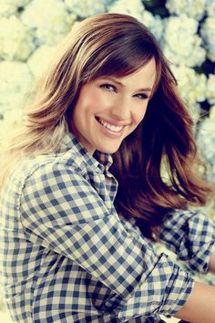 Jennifer Garner in Blue Plaid
