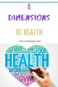 The 8 Dimensions of health and wellness - Nurse Mummy Health And Wellbeing, Mental Health, Advanced Nursing, Physical Environment, Womens Wellness, Spiritual Wellness, Holistic Medicine, Health Challenge, Health Promotion