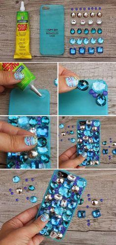 DIY BEDAZZLED PHONE CASE crafty ideas crafty b it