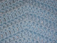 Baby Blue Boy  Crocheted Blanket Baby Shower by Freshofftheneedle, $25.00