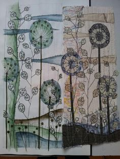 featured artist is anne brooke Free Motion Embroidery, Embroidery Applique, Free Machine Embroidery, Art Textile, Textile Artists, Tea Bag Art, Creative Textiles, Thread Painting, Sewing Art