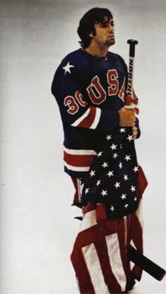 Jim Craig 1980 USA Olympic Ice Hockey Miracle on Ice.THAT year i fell in love with ice hockey Olympic Hockey, Usa Hockey, Bruins Hockey, Hockey Goalie, Olympic Sports, Hockey Mom, Field Hockey, Hockey Players, Olympic Games