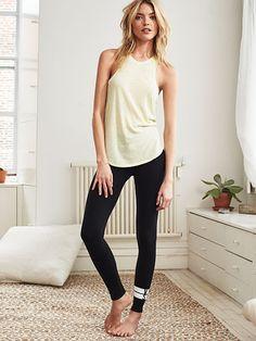Heather Grey Waistband//Olive Stripe Leg