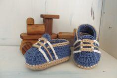 "Etsy: Boys Crochet Shoes Baby Booties Pattern - ""Auroch Loafer"""