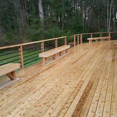 Knotty Western Red Cedar Deck