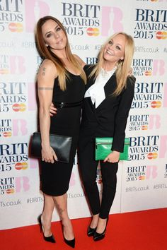 Pin for Later: The Brit Awards Red Carpet Was More Glamorous Than Ever This Year Mel C and Emma Bunton The Spice Girls reunited for a night on the tiles in coordinating monochrome looks.