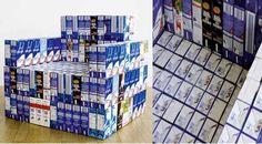 Sillón realizado con 294 envases tetra