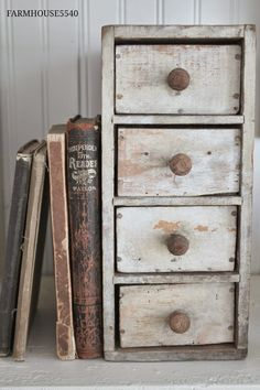 Hello and welcome to this months edition of Farmhouse Friday! Our theme this month is FARMHOUSE STORAGE! Like most old farmhouses. Country Decor, Rustic Decor, Bright Paintings, Primitive Kitchen, Old Farm Houses, Primitive Furniture, Wood Crates, Farmhouse Chic, Cheap Home Decor