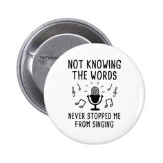 Not Knowing The Words Button