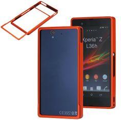 Z-Bumper (Rød-Oransje) Sony Xperia Z Metal Bumper