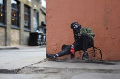 Street artist Pablo Delgado in London. Repinned by Tempo Pilates, www.tempopilates.com