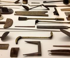 The 'Bronze' exhibition at the RA is wonderful. These tools for bronze casting are a gem.
