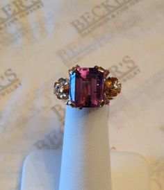 Antique Retro 18k Pink & Yellow gold Emerald by BeckersJewelersCT