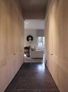 Wood and belgian blue stone, perfect combination