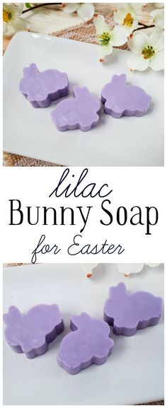 Learn how to make these adorable Lilac Bunny Easter Soaps with a few simple ingredients and the beautiful scent of Lilac - perfect for Easter and spring! #lilacsoap #bunny #Easter #springsoap #handmade #soapmaking Wooden Craft Sticks, Wooden Crafts, Craft Stick Crafts, Diy Beauty Items, Body Powder, Soap Base, Color Powder, Milk Soap, Homemade Gifts