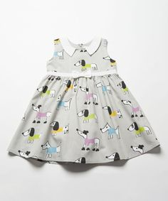 Look at this Gray Dogs Peter Pan Babydoll Dress - Infant, Toddler & Girls on #zulily today!