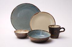 Hammered Porcelain Dinnerware