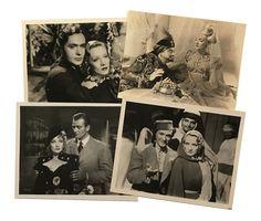 """Films américains Marlene Dietrich dans les films : """"Le Cantique des cantiques"""" de Rouben Mamoulian, 1933, """"L'Impératrice rouge"""" de Josef von Sternberg, 1934, """"La Femme et le Pantin"""" de Josef von Sternberg, 1935, """"Le Jardin d'Allah"""" de Richard Boleslawski, 1937, """"Angel"""" d  23 tirages argentiques d'époque, annotations et indications de parution au dos pour certain  21 x 27 cm et inf."""