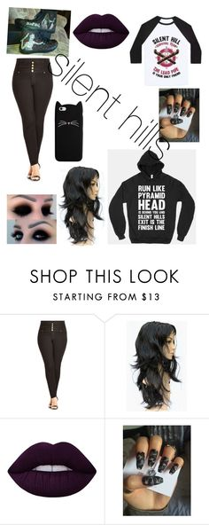 """""""silent hills"""" by sartoriuspandas ❤ liked on Polyvore featuring Converse, City Chic and Lime Crime"""