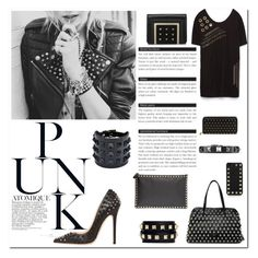 Punk has never looked so chic by carlavogel on Polyvore featuring polyvore, fashion, style, Zara, Jimmy Choo, Valentino, RED Valentino and Alexander McQueen