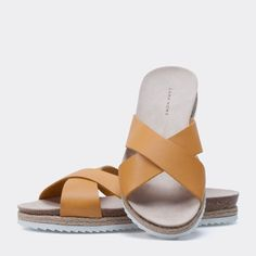 6d2ad7d337d LEATHER CROSSOVER SANDALS - Footwear - Woman - Homewear   shoes