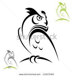 Horned owl - vector illustration by MurphyIgor, via ShutterStock