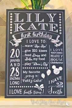 First Birthday Party Poster - also like this chick's blog