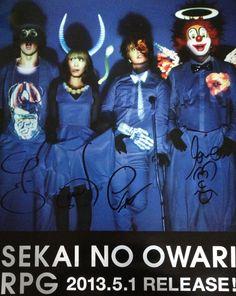 SEKAI NO OWARI poster!!