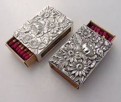 Silver Repousse Match Box Covers.                     Glo I have one of these.