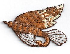 """FISHING LURE FULLY EMBROIDERED 1 3/4"""" X 1 1/4"""" IRON ON PATCH - Light Brown (C) #Unbranded"""