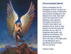 Oración al Arcángel Gabriel.