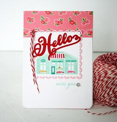 Miss You Card by Danielle Flanders for Papertrey Ink (July 2015)